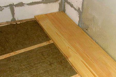 Як утеплити бетонну підлогу на першому поверсі приватного будинку