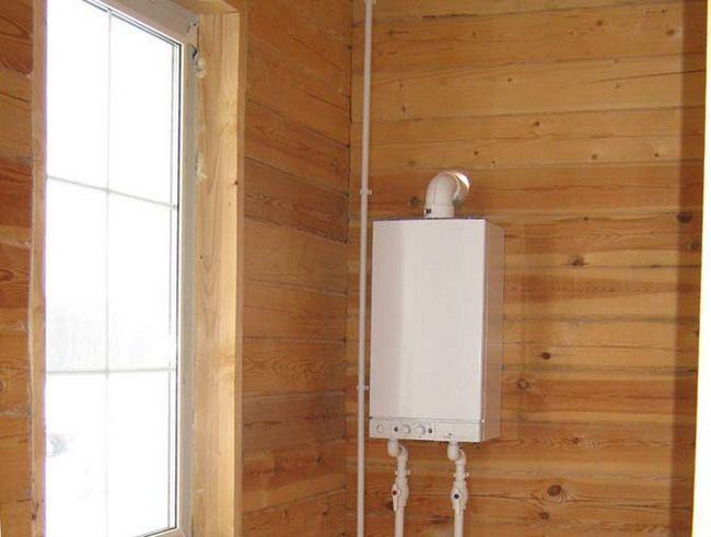 Установка газового котла на стіні