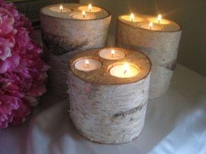 Креативні свічники своїми руками з березових гілок