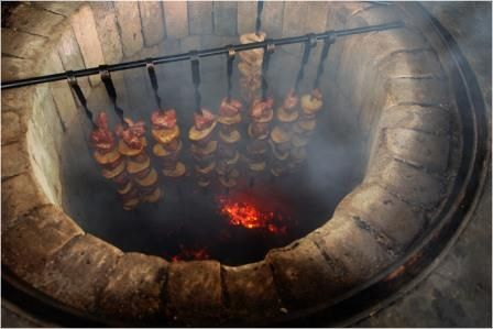 Мангал барбекю своїми руками з цегли