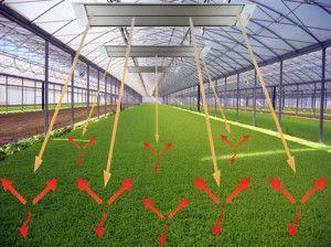 Саме тепло, що випромінюється інфрачервоними обігрівачами, використовується в просторі з найбільшим ККД