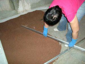 Стяжка підлоги керамзитом своїми руками