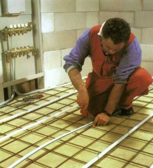 Монтаж теплого електричного підлоги