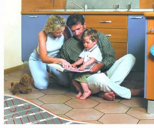 Тепла підлога із застосуванням матів