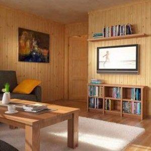 Внутрішнє оздоблення каркасного будинку від стелі до підлоги