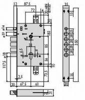 Замок електромагнітний cisa 17685